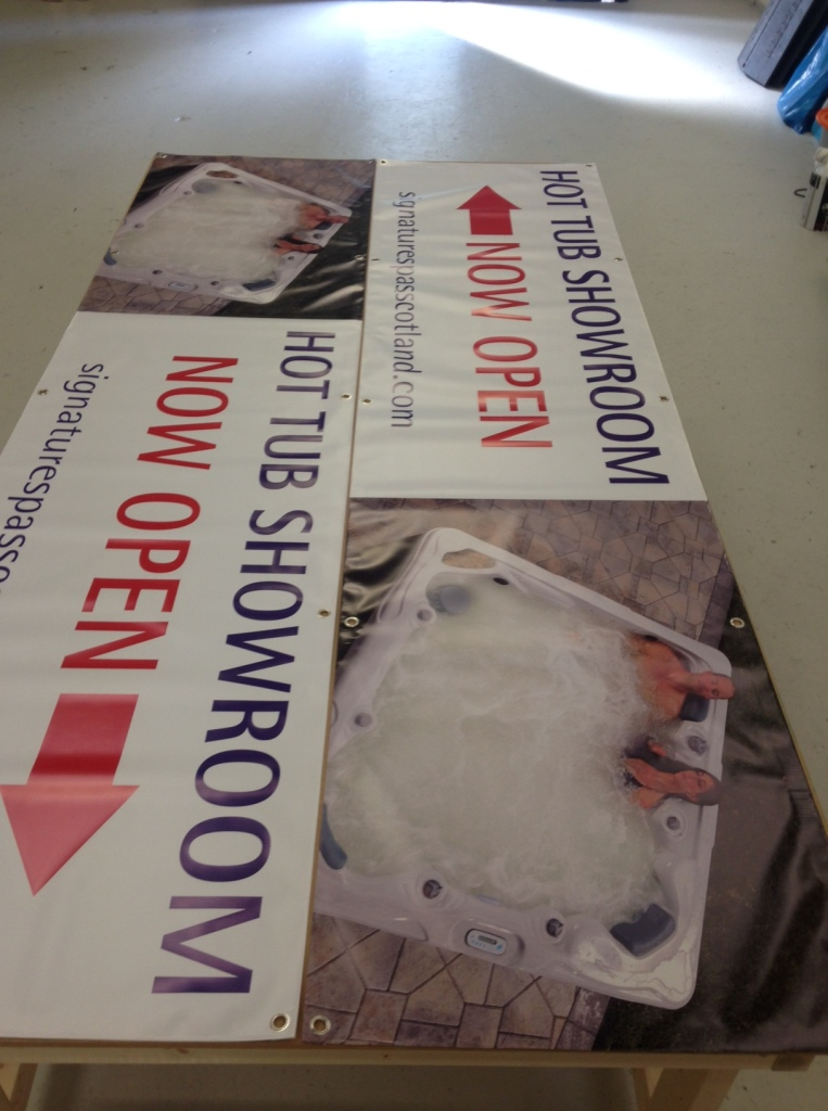 Banners printed for Signature Spas Scotland