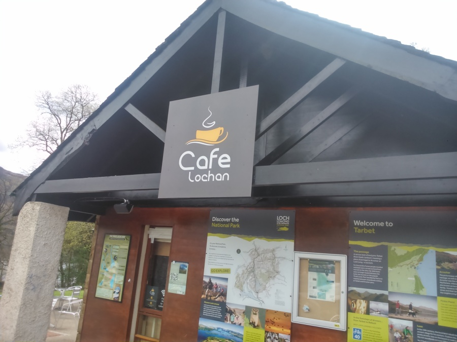 Cafe Lochan - Exterior Sign fitted to building - Lomond Branding