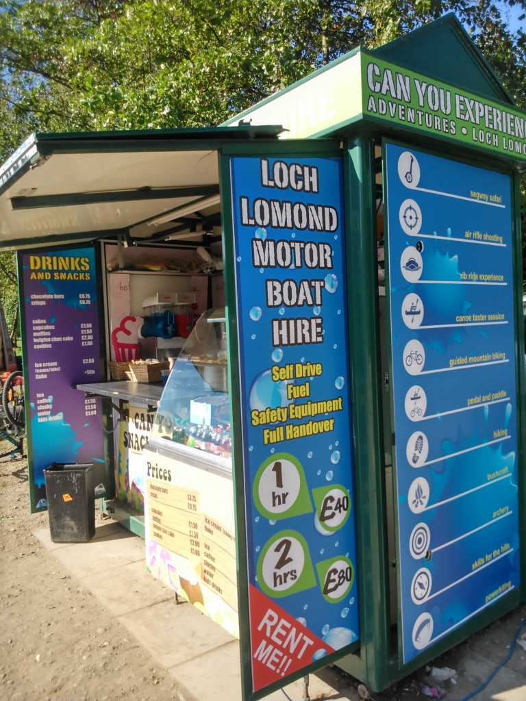 Signage for beach kiosk for Can You Experience - Lomond Branding