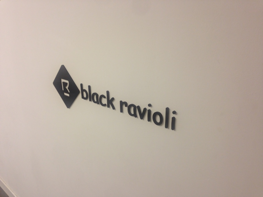 Wall graphics for Black Ravioli - Lomond Branding