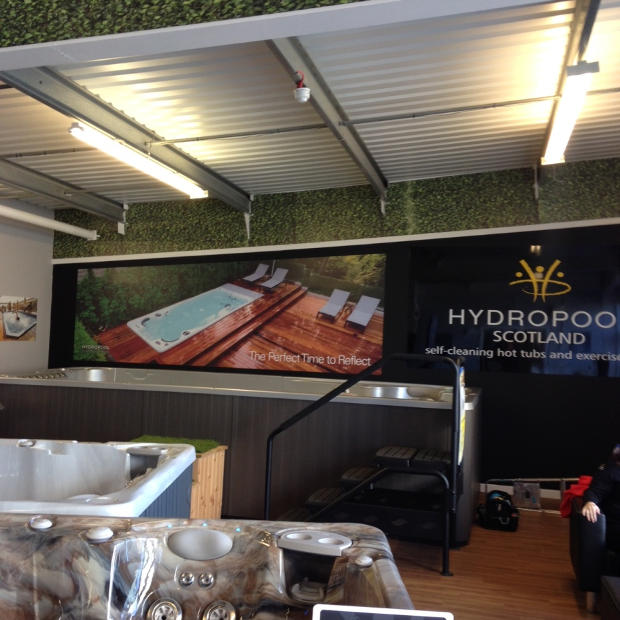 Wall graphics for Hydropool Scotland - Lomond Branding