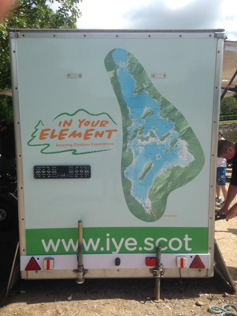 Outdoor Equipment Trailer - In your element - Lomond Branding