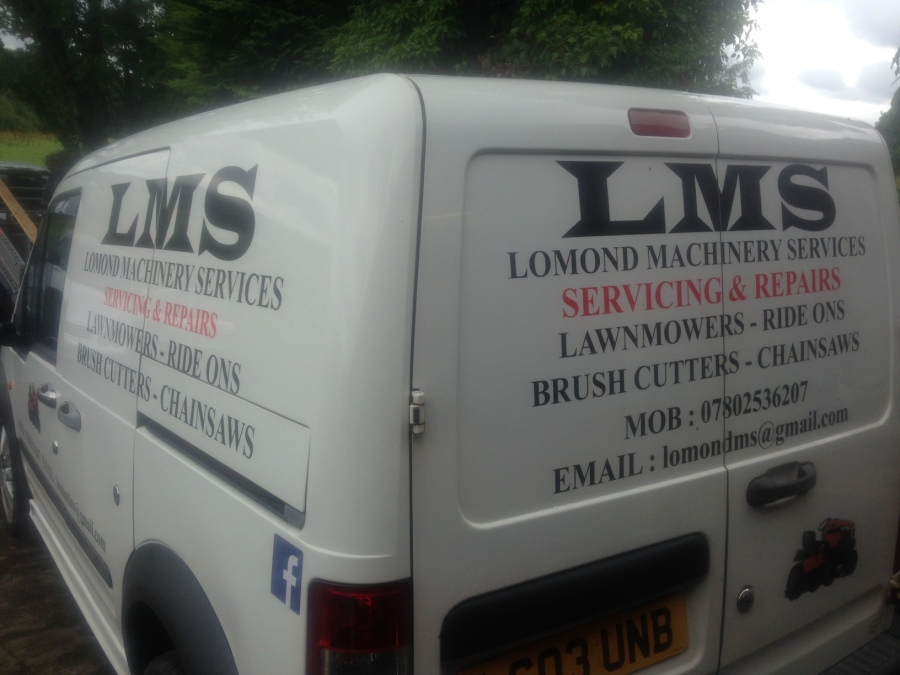 Van vehicle graphics - LMS lomond machinery services - Lomond Branding