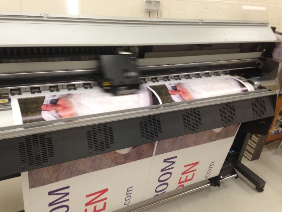 Large Format Digital Printers - Signature Spas Scotland - Lomond Branding