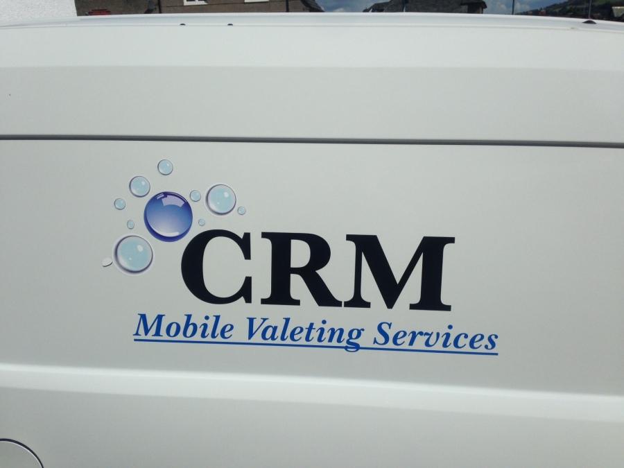 Van vehicle graphics - CRM Mobile valeting services - Lomond Branding