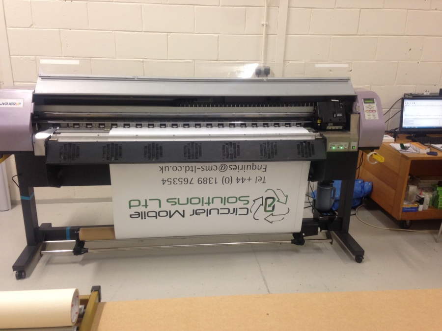 Sign printing in process for Circular Mobile Solutions Ltd