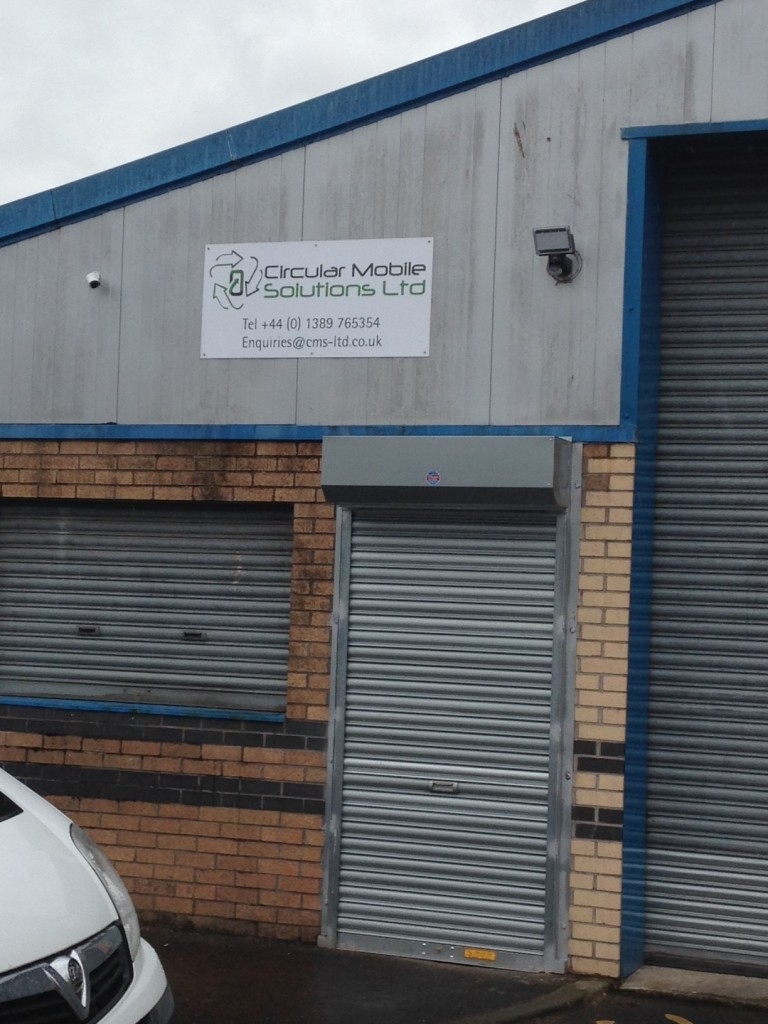 New sign fitted for Circular Mobile Solutions Ltd