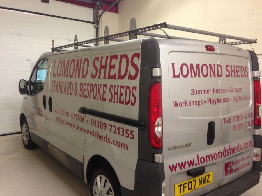 Van graphics for Lomond Sheds - Alexandria - Lomond Branding