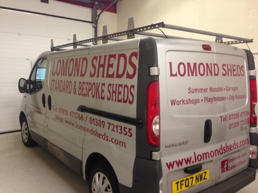 Van graphics for Lomond Sheds - Alexandria - Lomond Branding