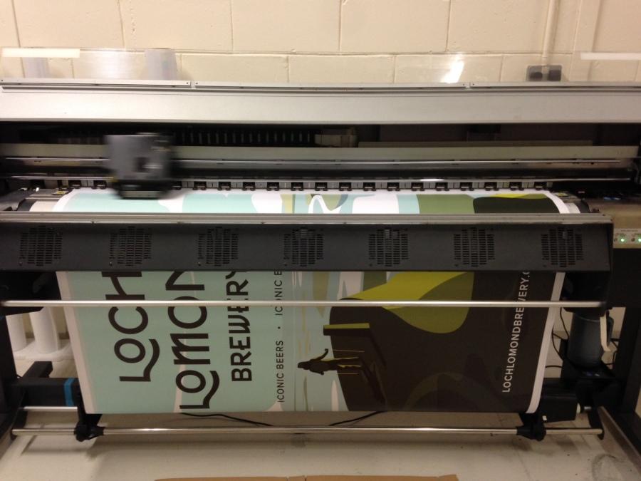 Large Format Digital Printers - Loch Lomond Brewery - Lomond Branding