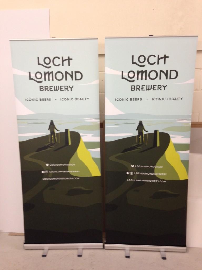 Roller Banner - Loch Lomond Brewery - Lomond Branding