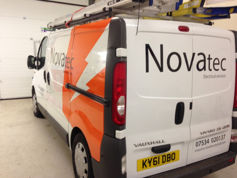 Van Vehicle Graphics - Novatec Electrical Services - Lomond Branding