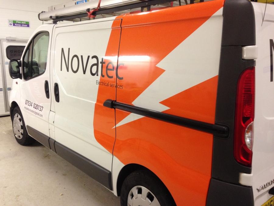 Van Vehicle Graphics - Novatec Electrical Services - Lomond Branding