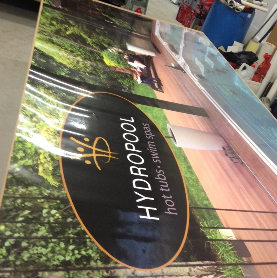 Large Format Digital Printers - Hydropool Scotland - Lomond Branding