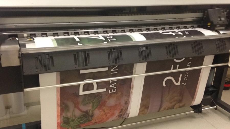 Large Format Digital Printers - Takeaway sign - Lomond Branding