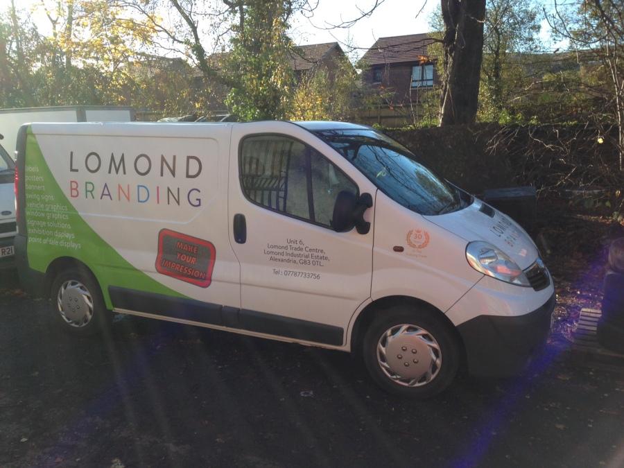 Van Vehicle Graphics - Lomond Branding